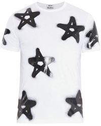 Acne Studios 'eddy' Graffiti Star Print T-shirt - Black