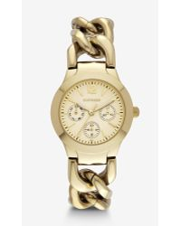 Express Multi-function Chain Link Bracelet Watch - Gold