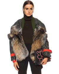 Preen Falcon Fox Wool Jacket - Lyst