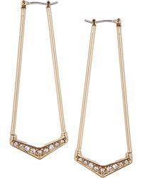 Rachel Roy - V Angle Hoop Earrings - Lyst