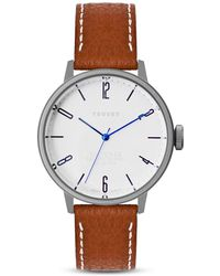 Tsovet | Leather Strap Watch, 36mm | Lyst