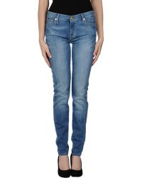 7 For All Mankind Denim Pants - Lyst