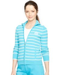 Ralph Lauren Cable-Knit Mockneck Sweater - Lyst