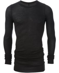 Rick Owens Black Long Tshirt - Lyst
