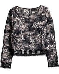 H&M Sheer Blouse - Lyst