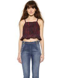 Rachel Comey Plano Crop Top - Red/Black - Lyst