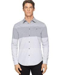 Calvin Klein Jeans Modern Fit End On End Colorblock Sportshirt - Lyst