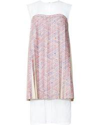 Calla - Pleated Alcantara America Lily Print Dress - Lyst