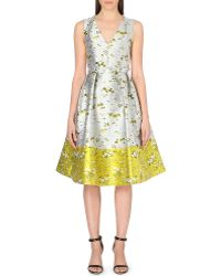 Erdem Floral-brocade Dress - Lyst