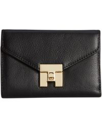 Tommy Hilfiger Postino Leather Medium Flap Wallet - Lyst