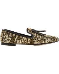 Giuseppe Zanotti Studded Loafers - Lyst