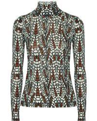 Issa Printed Wool Blend Turtleneck Sweater - Lyst