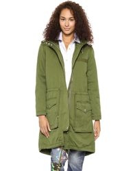 Marc By Marc Jacobs Classic Cotton Hooded Parka New Fatigue Green - Lyst