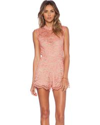Alexis X Revolve St. Lucia Lace Romper - Lyst