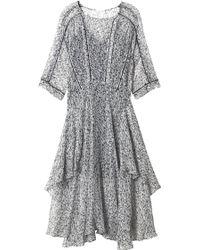 Rebecca Taylor - Flight Feather Midi Dress - Lyst