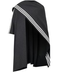 Y-3 Track Cottonjersey Poncho - Lyst