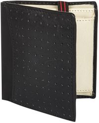 River Island Black Perforated Stripe Trim Wallet - Lyst