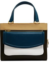 Vionnet Womens Squared Calfskin Handbag white - Lyst