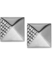 Michael Kors Crystal Pavé Pyramid Stud Earrings - Lyst