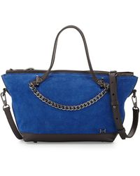 Halston Heritage Suede Small Chain Satchel Bag - Lyst