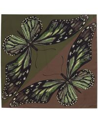 Valentino Green Butterfly Silk Scarf - Lyst
