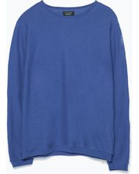 Zara Structured Long Sleeve Top - Lyst