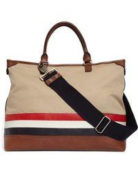 Brooks Brothers Mackintosh Horizontal Stripe Bag - Natural