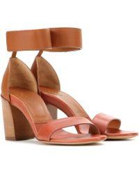 Chloé Leather Sandals - Lyst