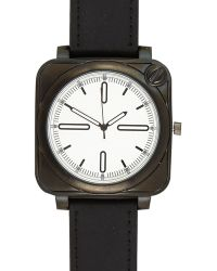 River Island Black Square Face Watch - Lyst