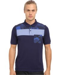 Fred Perry Overdyed Gingham Camo Polo - Lyst
