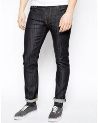 Nudie Jeans Thin Finn Slim Fit Organic Dry Heavy Selvage - Lyst