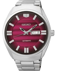 Seiko Mens Automatic Stainless Steel Bracelet Watch 44mm Snkn05 - Lyst