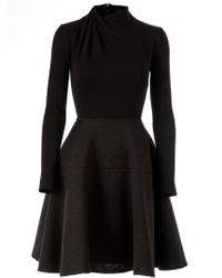 Lanvin Gray Fitted Dress - Lyst