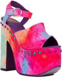 YRU - Daydream Studded Rainbow Platform Heels - Lyst
