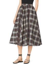 Michael Kors Madras Silk-Taffeta Skirt - Lyst