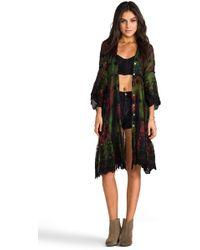 Gypsy Junkies Sissy Long Cardigan in Green