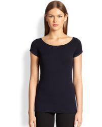 Donna Karan New York Jersey Cap Sleeve Top - Lyst