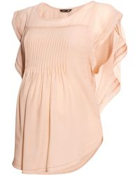 H&M Mama Butterfly-sleeved Blouse - Lyst