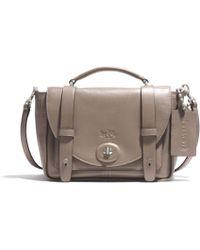 Coach Bleecker Mini Brooklyn Messenger Bag in Leather - Lyst