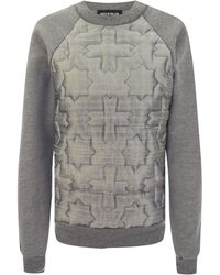 House Of Holland Quilted Raglan Sweat - Lyst