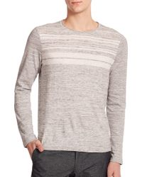 Vince Striped Sweater gray - Lyst