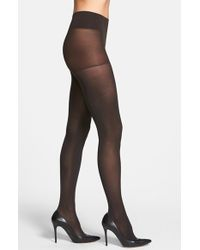 DKNY Opaque Control Top Tights - Lyst