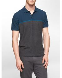 Calvin Klein Classic Fit Striped Cotton Polo Shirt - Lyst