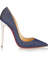 Christian Louboutin So Kate 120 Denim Pumps - Lyst