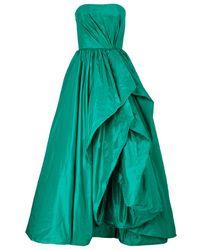 Oscar de la Renta Bandeau Taffeta Gown - Lyst