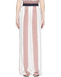 Elizabeth and James | 'rory' Wide Leg Stripe Silk Pants | Lyst