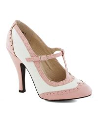 ModCloth Speakeasy Does It Heel in Blush - Lyst