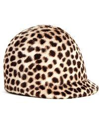 Eugenia Kim Blair Animal-print Hat - Lyst