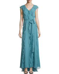 Carolina Herrera Ruffled Silk Chiffon Gown - Lyst