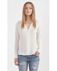 Equipment Adalyn Silk Button Up Blouse white - Lyst